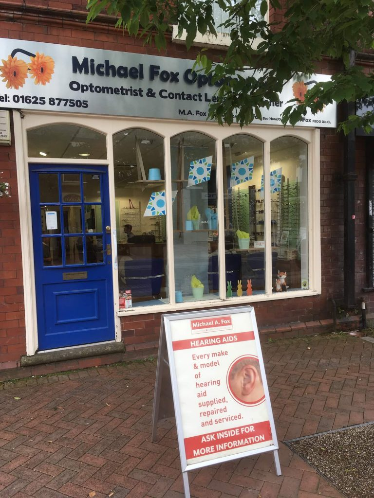 Michael Fox opticians uk hearing centre poynton